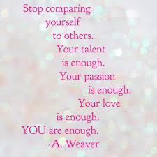 love comparing