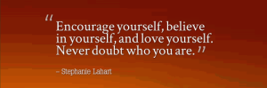 encourage yourself